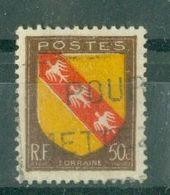 FRANCE - N° 757 Oblitéré - Armoiries De Provinces (III). Lorraine. - 1941-66 Escudos Y Blasones