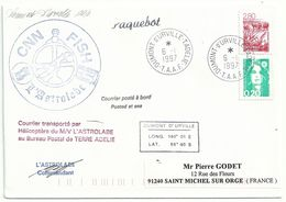 YT 2952 Camargue - Taureaux - Posté à Bord De L'Astrolabe - Paquebot - Dumont D'Urville - Terre Adélie - 06/01/1997 - Briefe U. Dokumente