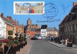FRANCE.CARTE MAXIMUM. N°207403. 27/06/2019. Cachet Cassel. Cassel Nord. Signé Marot Et Besser - 2010-...