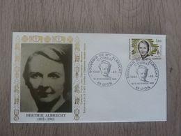 BERTHIE ALBRECHT (1893 - 1943) Résistante - Compagnons De La Libération - Hommage - Année 1983 - - Oblitérés