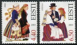 Estonia 2003  Correo Yvert Nº  451/452 ** Trajes  Tradicionales  (2 Val.) - Estonia