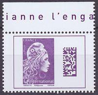 Timbre Neuf ** N° 5291(Yvert) France 2019 - Marianne L'Engagée International Datamatrix - 2018-... Marianne L'Engagée