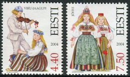 Estonia 2004  Correo Yvert Nº  476/477 ** Trajes Tradicionales (2 Val.) - Estonia