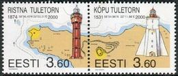 Estonia 2000  Correo Yvert Nº  353/354 ** Faros (2 Val.) - Estonia