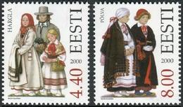Estonia 2000  Correo Yvert Nº  365/366 ** Trajes Tradicionales (2 Val.) - Estonia