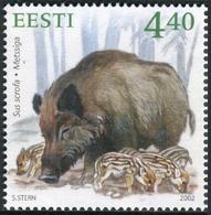 Estonia 2002  Correo Yvert Nº  426 ** Fauna Salvaje. Jabalí - Estonia