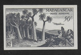 MADAGASCAR 1954 YT PA 75** NON DENTELE - Luftpost