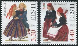 Estonia 2002  Correo Yvert Nº  428/429 ** Trajes Tradicionales (2 Val.) - Estonia