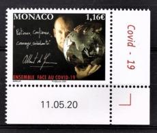 MONACO 2020 - SOLIDARITÉ COVID-19 - NEUF ** - Monaco