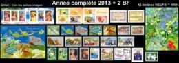 POLYNESIE Année Complète 2013 + BF (NEUF ** MNH) : Yv. 1013 à 1047 Dont 2 Carnets + BF 39 Et F1019  (42 Tp)  ..Réf.POL25 - Polynésie Française
