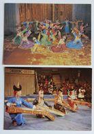 2 Cartes Postales Danse Tarditionnelle Mongolie - Mongolia