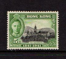HONG  KONG    1941    Centenary  Of  British  Occupation      5c  Black  And  Green    MH - Hong Kong (...-1997)