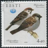 Estonia 2002  Correo Yvert Nº  415  Fauna. Pájaros - Estonia