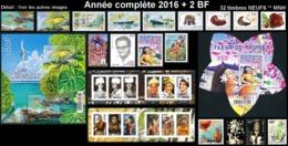 POLYNESIE Année Complète 2016 + BF (NEUF ** MNH) : Yv. 1110 à 1138 Dont 2 Carnets + BF 44 Et 45  (32 Tp)  ..Réf.POL25084 - Polynésie Française