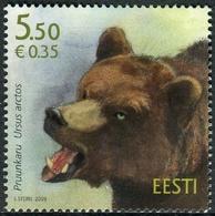 Estonia 2009  Correo Yvert Nº  595 ** Fauna. Oso Pardo - Estonia