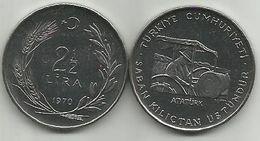 Turkey 2 1/2  Lira 1970. UNC FAO KM#896 - Turquie