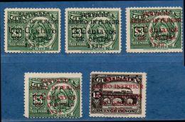 Guatamala 1930 Inland Airmail Overprint 5 Values MNH 2006.2201 - Guatemala