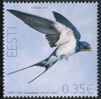 Estonia 2011  Correo Yvert Nº  645 ** Fauna. Golondrina Rústica - Estonia
