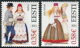 Estonia 2011  Correo Yvert Nº  643/644 ** Trajes Tradicionales Del Norte (2 Val - Estonia