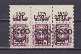 Danzig - Portomarken - 1923 - Michel Nr. 26 P OR Dreier - Postfrisch - 80 Euro - Dantzig