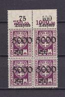 Danzig - Portomarken - 1923 - Michel Nr. 26 P OR Viererblock - Postfrisch - 90 Euro - Dantzig