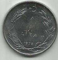 Turkey 1  Lira 1978. UNC FAO KM#914 - Turquie