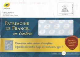 Enveloppe De Philaposte  2020  Avec Timbre Personnalisé International 250 G - Enteros Postales