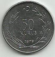 Turkey 50 Kurus 1979. UNC FAO KM#925 - Turquie