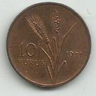 Turkey 10 Kurus 1971. High Grade FAO KM#898 - Turquie