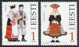 Estonia 1994  Correo Yvert Nº  247/248 ** Trajes Populares (2 Val.) - Estonia