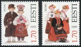 Estonia 1995  Correo Yvert Nº  260/261 ** Trajes Populares (2 Val.) - Estonia