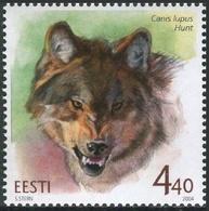 Estonia 2004  Correo Yvert Nº  457 ** Fauna Salvaje. Lobo - Estonia