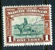 North Borneo 1939 Pictorials - 1c Buffalo Transport Used (SG 303) - North Borneo (...-1963)