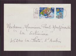 France, Enveloppe Du 16 Janvier 2001 De Dissay Pour La Ferté-Saint-Aubin - France