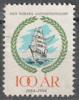 Sealing Ship 1964 NORWAY Den Norske Sjømannsmisjon / Seaman's Mission - Charity LABEL CINDERELLA VIGNETTE - Ships