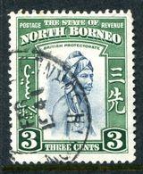 North Borneo 1939 Pictorials - 3c Native Used (SG 305) - North Borneo (...-1963)