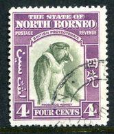 North Borneo 1939 Pictorials - 4c Proboscis Monkey Used (SG 306) - Bornéo Du Nord (...-1963)