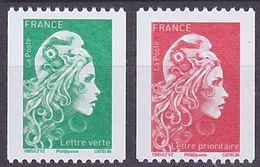 Série De 2 TP Neufs ** N° 5255/5256(Yvert) France 2018 - Marianne L'Engagée Roulette, N° Noir Au Verso - 2018-... Marianne L'Engagée