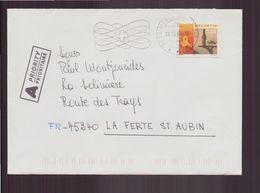 Suisse, Enveloppe Du 20 Décembre 2000 De Mendrisio Pour La Ferté-Saint-Aubin - Cartas