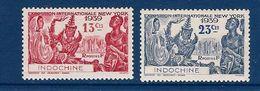 """Indochine YT 203 & 204 """" Exposition New York """" 1938 Neuf** - Ungebraucht"""