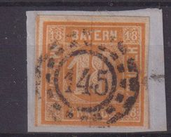 BAVIERE : N° 8 . OBL . SUR FGT . TB . 1849/50 . ( CATALOGUE YVERT ) - Bayern (Baviera)