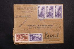 VIETNAM - Enveloppe Commerciale De Tourane Pour La France En 1954, Affranchissement Plaisant Recto / Verso - L 63874 - Viêt-Nam