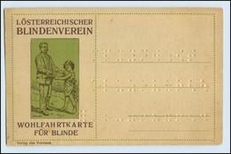 W5R58/ I. Österr. Blindenverein Wohlfahrts AK Für Blinde Ca.1920 - Ansichtskarten