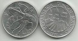 San Marino 10 Lire 1974. FAO KM#33 - Saint-Marin