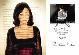 FRANCE.CARTE MAXIMUM. N°207462. 19/10/2018. Cachet Paris. Sophie Calle. Signé Calle - 2010-...