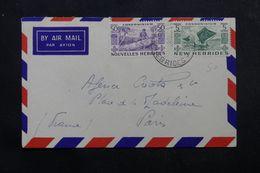 NOUVELLE HÉBRIDES - Enveloppe De Santo Pour La France En 1956 , Affranchissement Plaisant - L 63883 - Brieven En Documenten