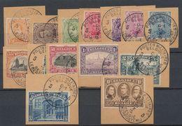 """émission 1915 - """"série Complète""""(manque N°148) Sur Fragment Obl Poste Militaires Belgique 5 / Belgie Legerposterij (1915 - 1915-1920 Albert I."""