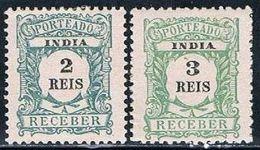 India, 1904, # 1/2, Porteado, MH - Inde Portugaise