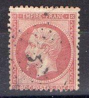 FRANCE ( POSTE ) S&M  N°  24  TIMBRE  TRES  BIEN  OBLITERE , A  SAISIR . R 7 - 1862 Napoleon III