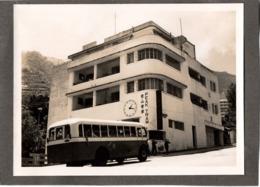 Hong Kong C.1949 PEAK TRAM Building Gare ? Hongkong - Photo C.9x12cm Collée Sur Carton - Autobus - Luoghi